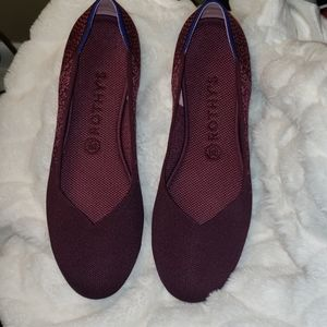 Rothys The Flat in Fig Python size 10 worn once